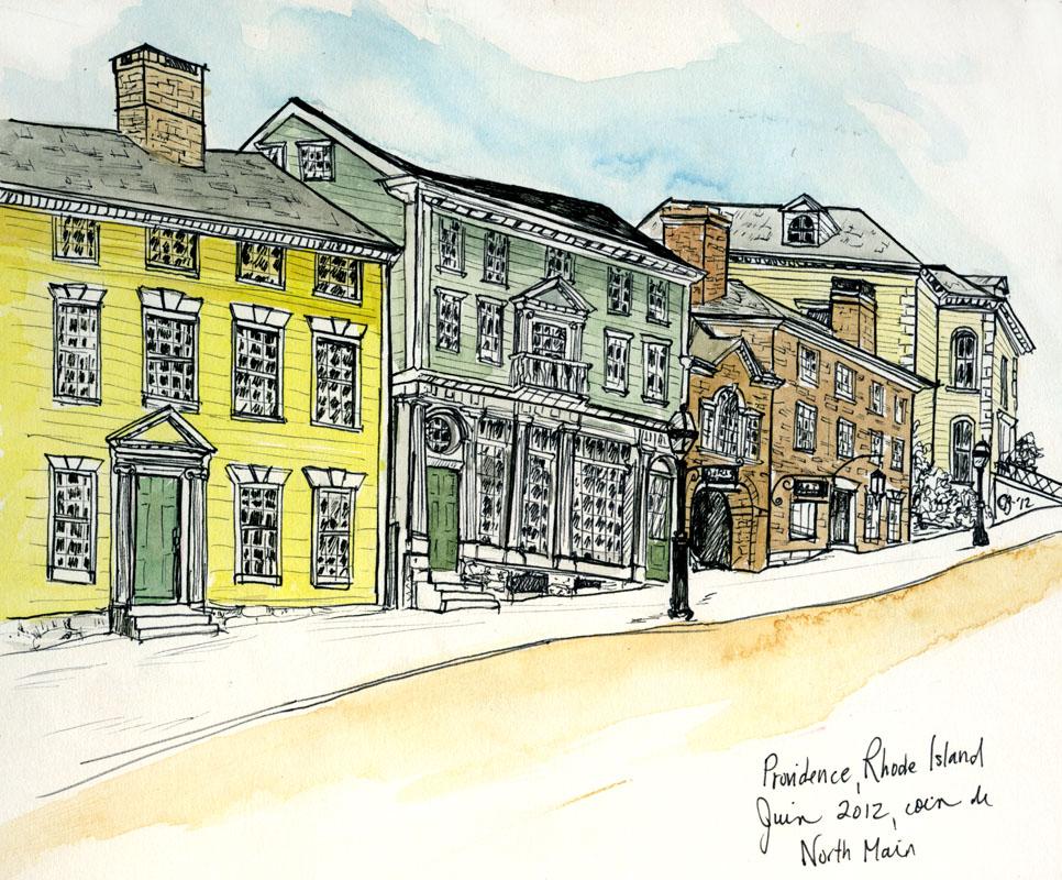 Sketch at the corner of North Main St., Providence, RI