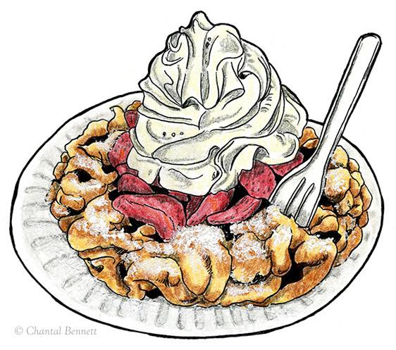 Christmas Funnel Cake