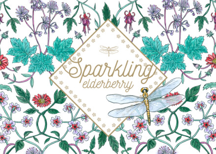 Sparkling Elderberry Label